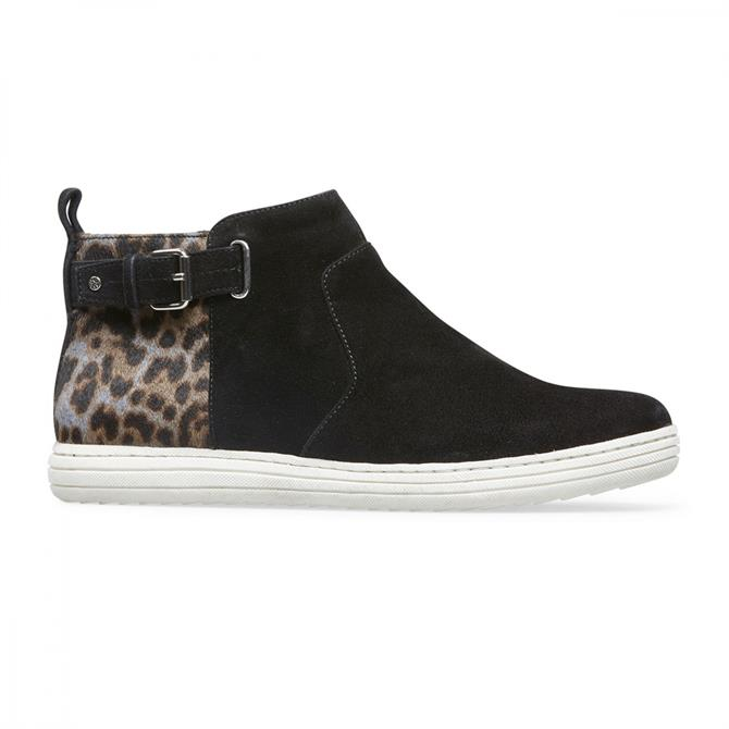 Van Dal Women's Ruso Grey Leopard High-Top Trainers
