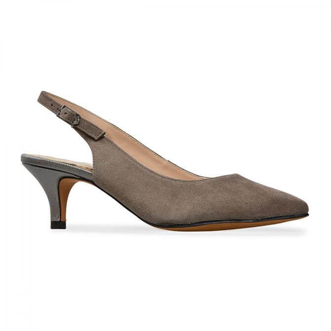 Van Dal Tovil Moss Suede Sling Back Court Shoes
