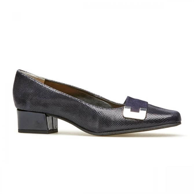 Van Dal Midnight Reptile Print Court Shoe