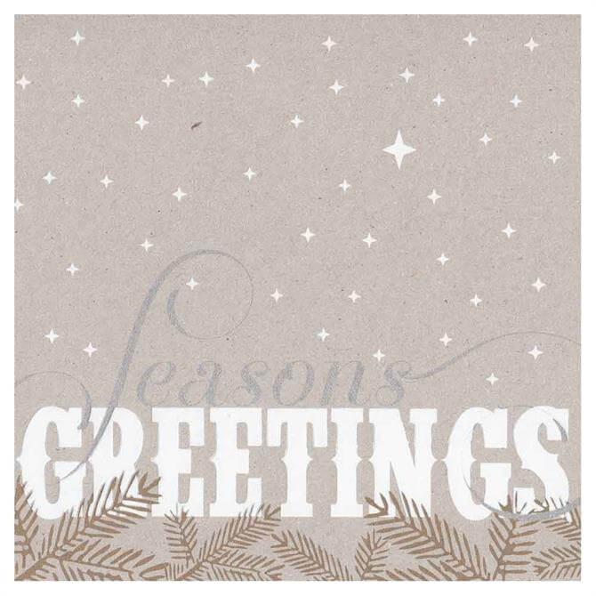 Velvet Olive Seasons Greetings Christmas Card