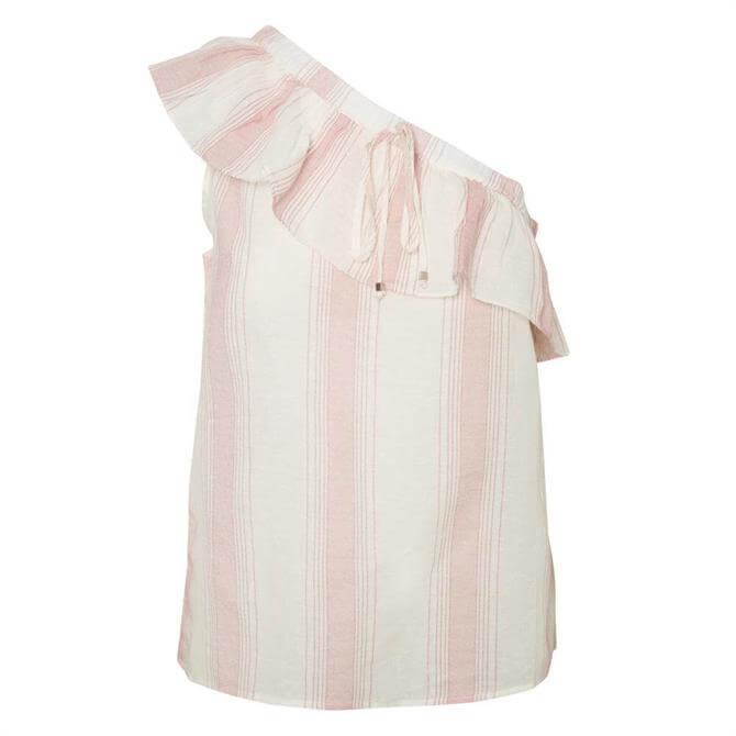 Vero Moda Striped One Shoulder Top