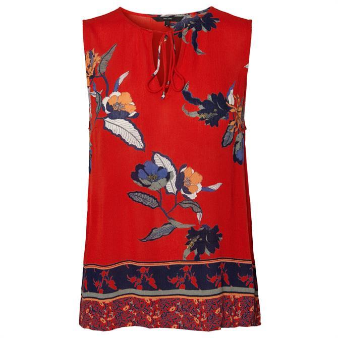 Vero Moda Olina Floral Sleeveless Blouse