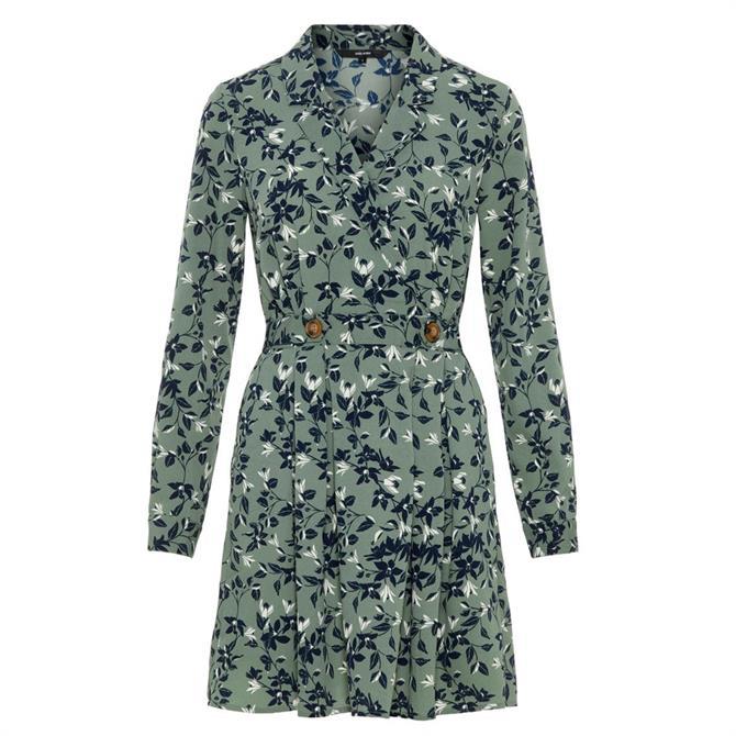 Vero Moda Viola Short Floral Print Wrap Dress