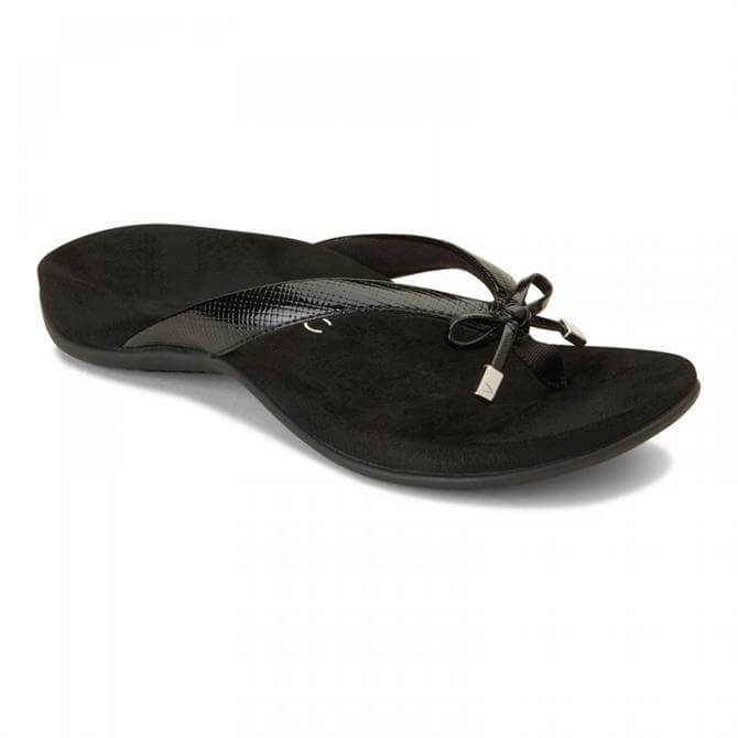 Vionic Women's Bella Black Toe-Post Sandal