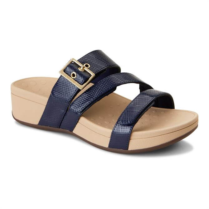 Vionic Women's Rio Navy Platform Sandal