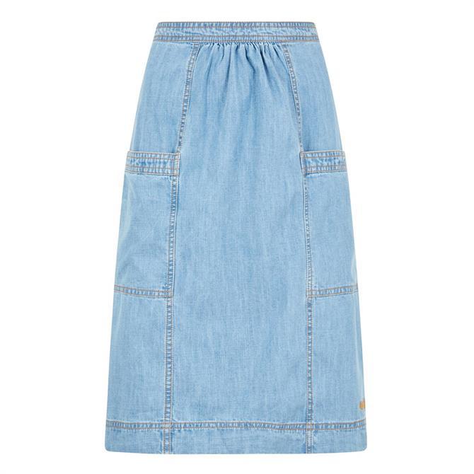 Weirdfish Bryony Denim Skirt