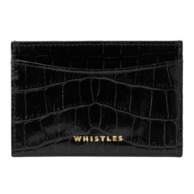 Whistles Shiny Croc Card Holder