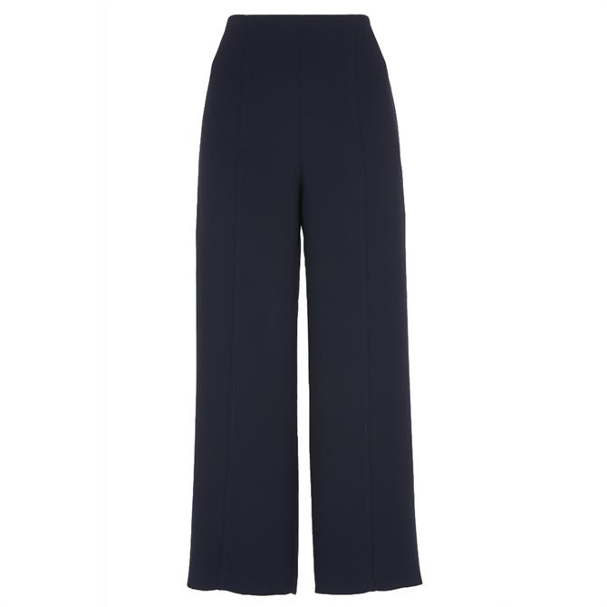 Whistles Flat Front Crop Navy Trouser