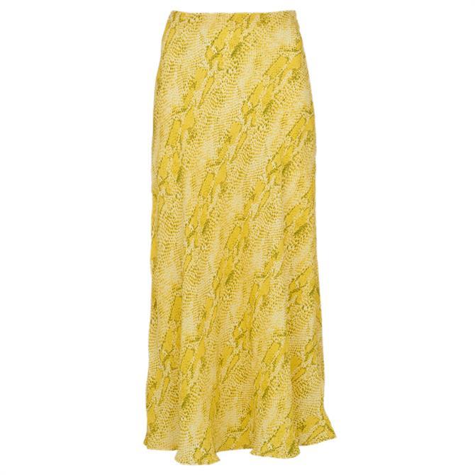 Whistles Python Print Bias Cut Skirt