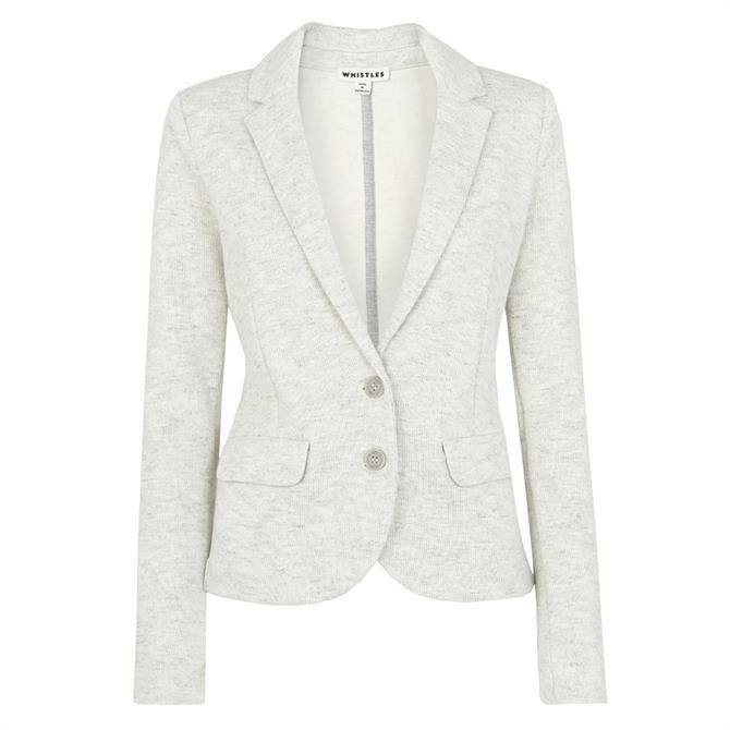Whistles Slim Jersey Grey Jacket