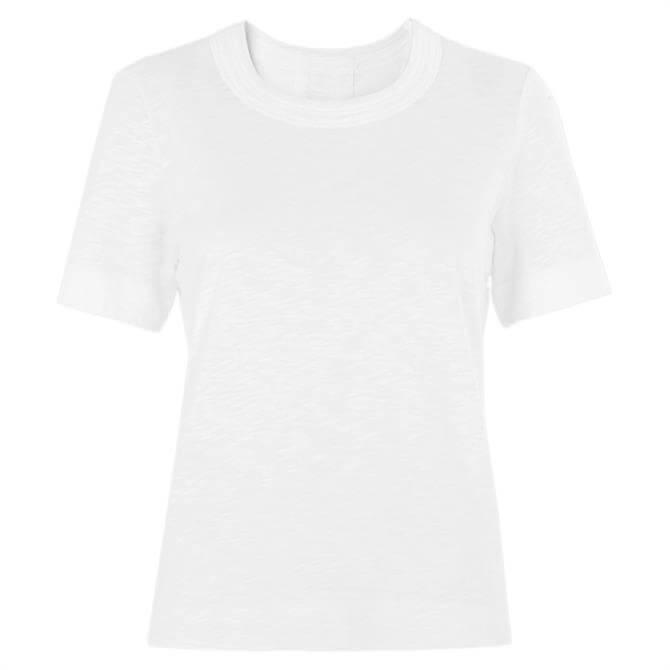 Whistles Rosa Double Trim Classic White T Shirt