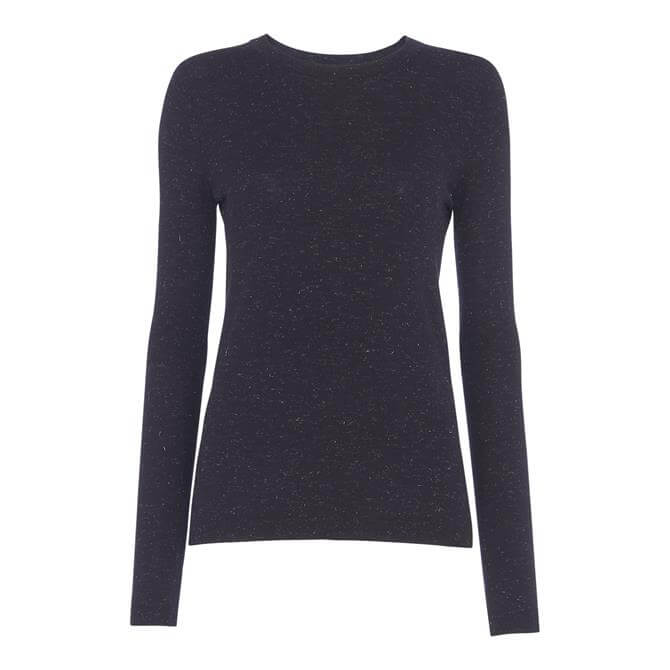 Whistles Annie Sparkle Navy Knit