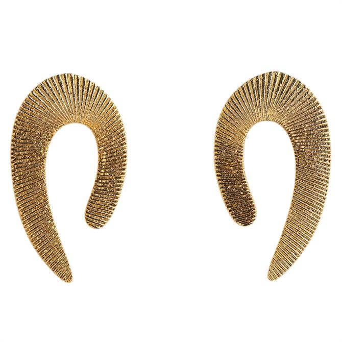 Whistles Textured Curve Earrings