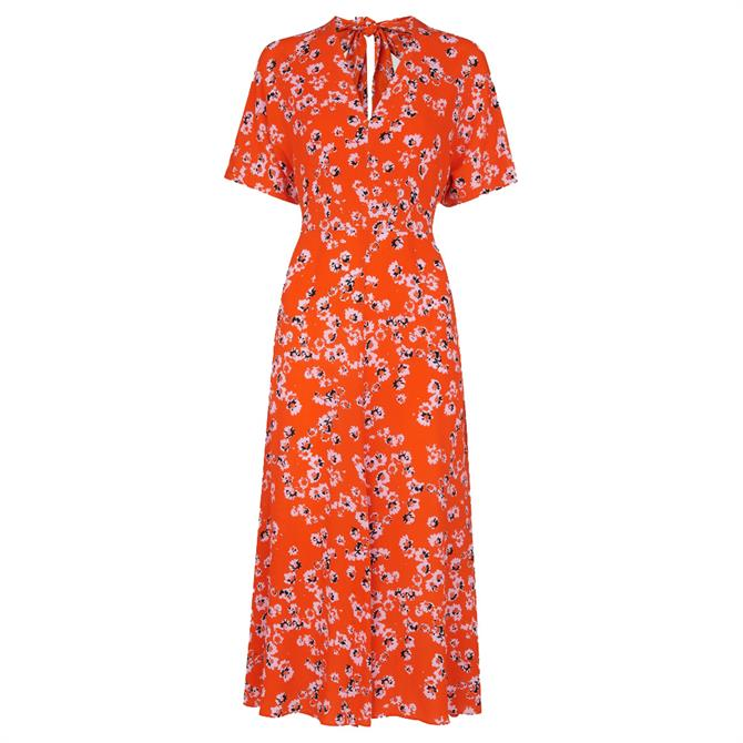 Whistles Digital Daisy Zelena Dress