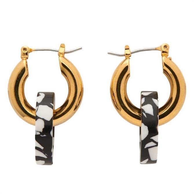 Whistles Marble Double Tube Hoop Earrings