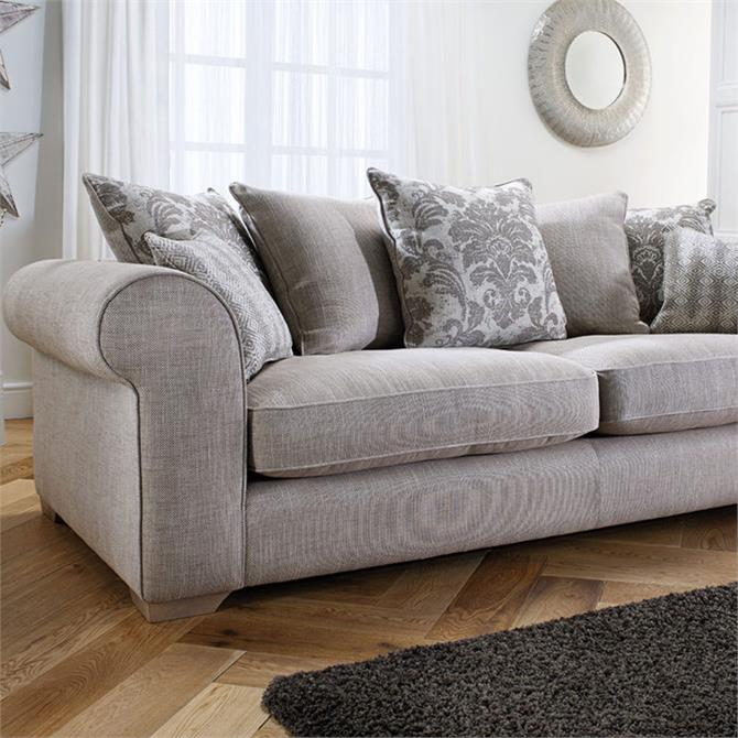 Mayfield Large Pillowback Sofa In Chanel Flint