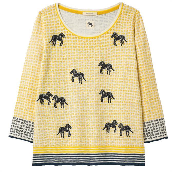 White Stuff Imani Zebra Lightweight Sweater