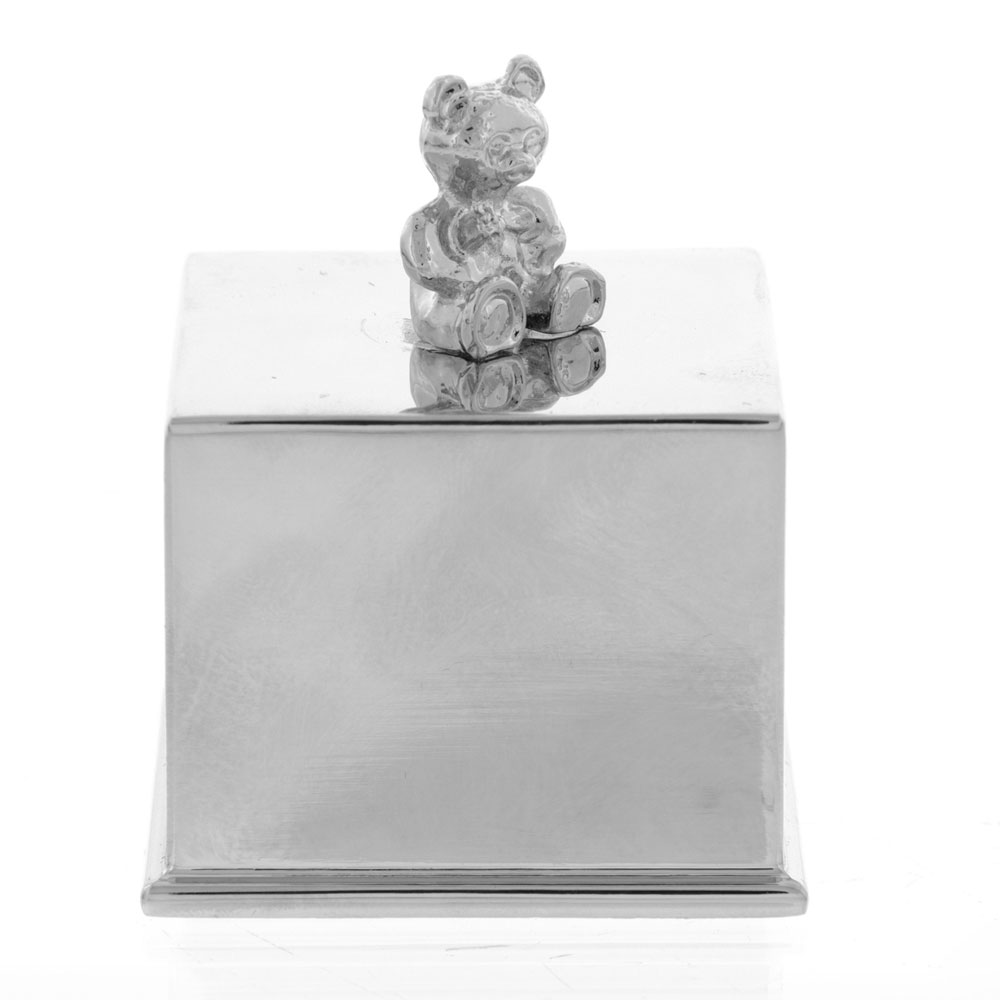 An image of Widdop Bambino Musical Cube with Teddy Bear