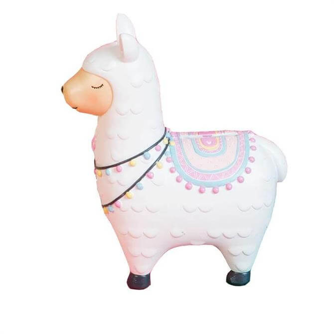 Widdop White Llama Money Box