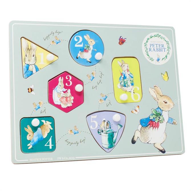 Peter Rabbit Wooden Peg Jigsaw Puzzle