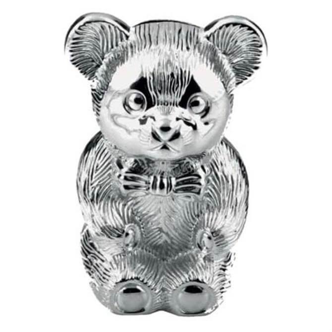 Widdop Bambino Silver Plated Bear Moneybox