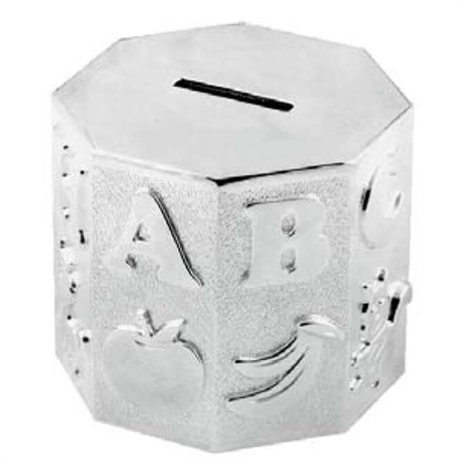 Widdop Bambino Silver Plated Octagonal A-Z Moneybox