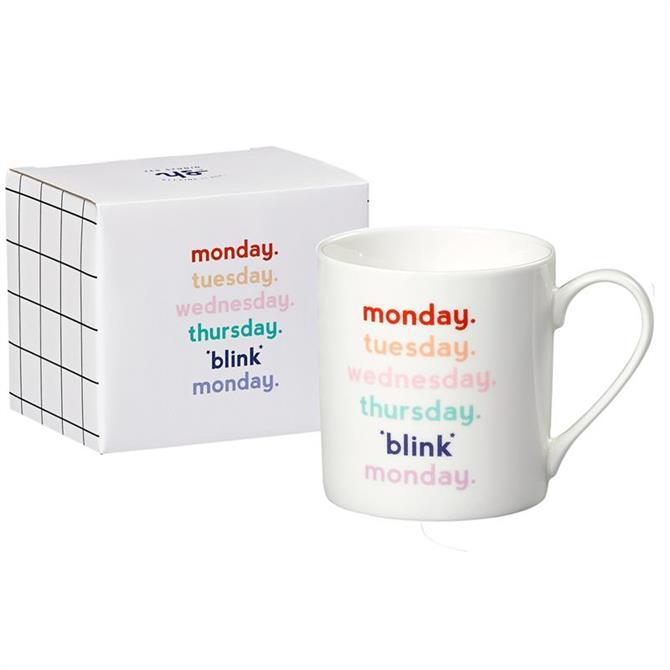 Yes Studio China Mug: 'Blink Monday'