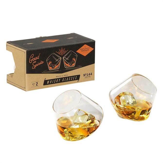 Wild & Wolf Gentlemen's Hardware Rocking Whisky Glasses 2 Set