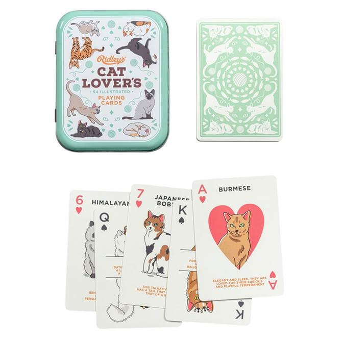 Wild & Wolf Ridleys Cat Lovers Playing Cards