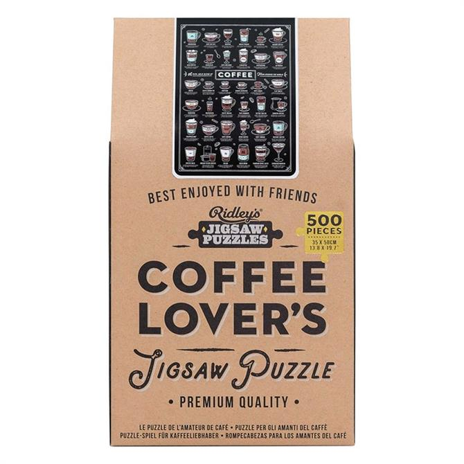 Wild & Wolf Ridleys Coffee Lovers 500 Piece Puzzle