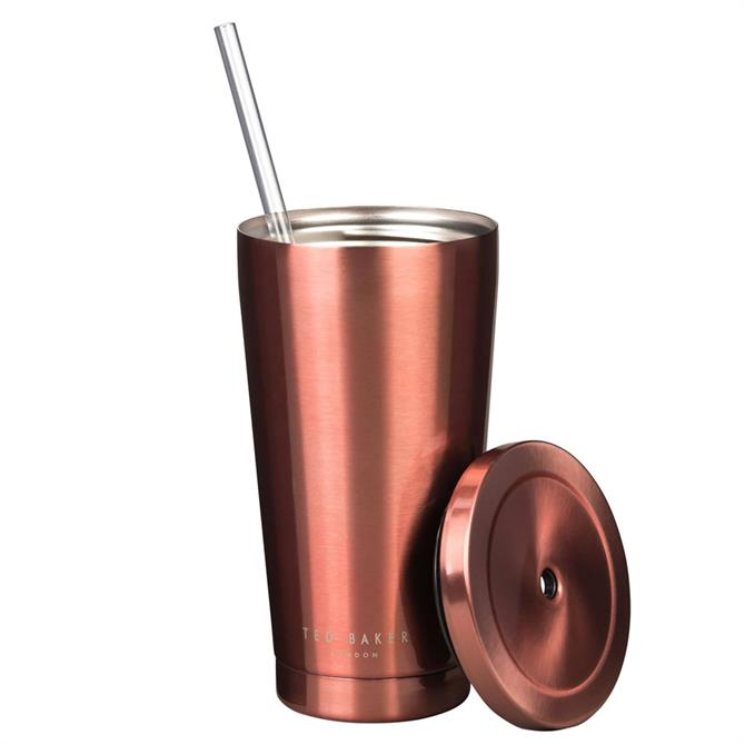 Ted Baker Tumbler With Straw Travel Cup 480ML