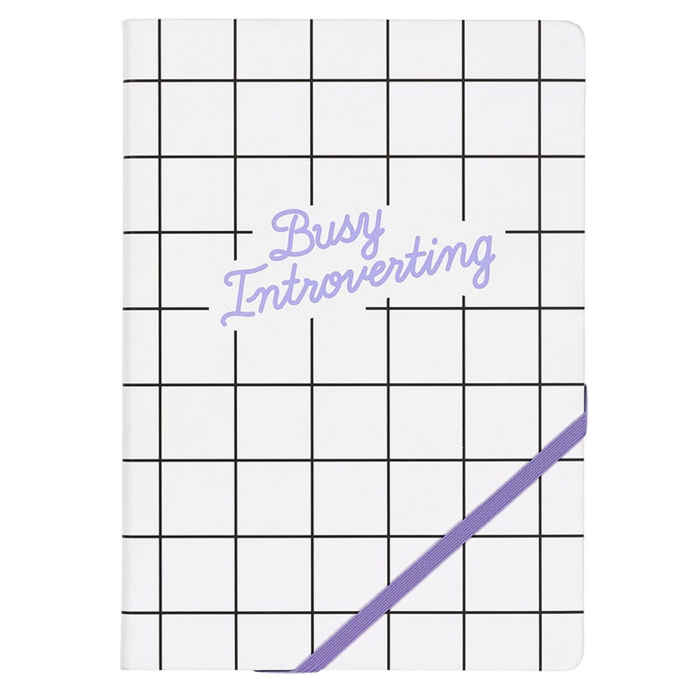 An image of Busy Introverting A5 Lined Notebook