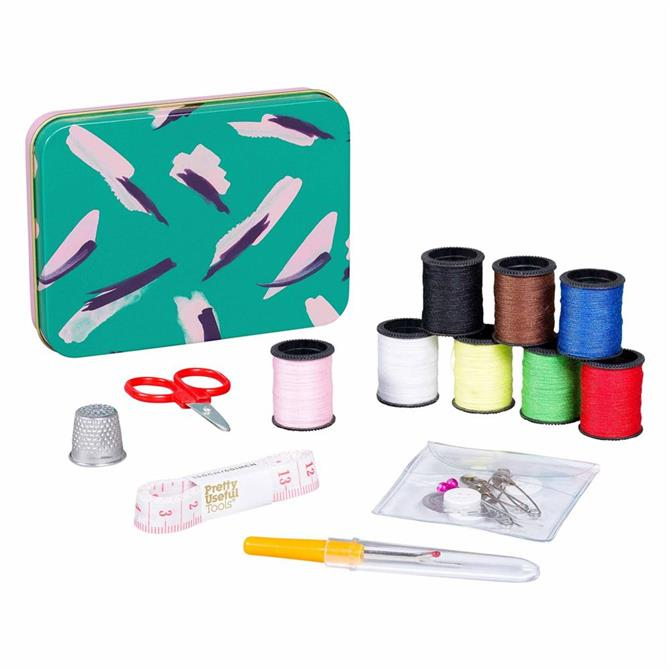 Wild and Wolf Sew and Repair Sewing Kit - Jungle Strokes Green