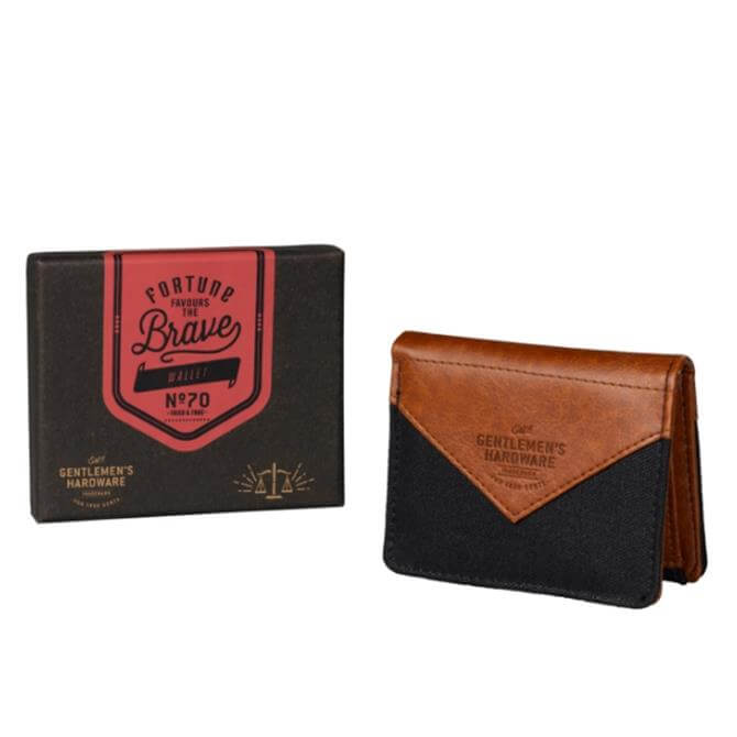 Wild & Wolf Fortune Favours the Brave Canvas Wallet