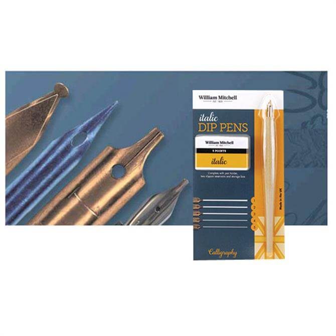 William Mitchell Italic Dip Pen Set - Left Hand