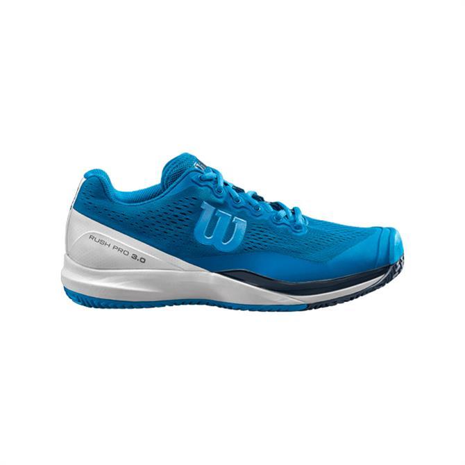 Wilson Men's Rush Pro 3.0 Tennis Shoes - Imperial Blue
