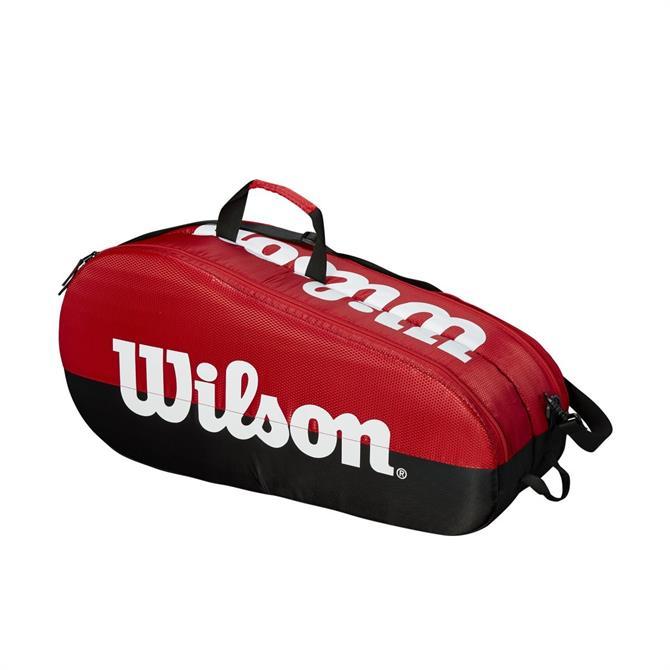 Wilson Team 2 Compartment Tennis Bag - Red/Black