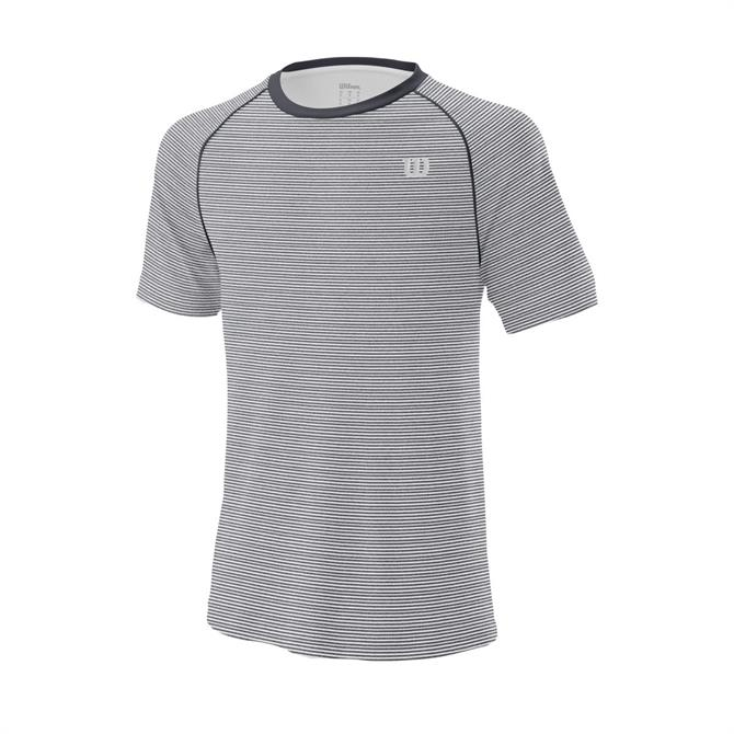 Wilson Men's Tennis Training Crew Top - Ebony/White