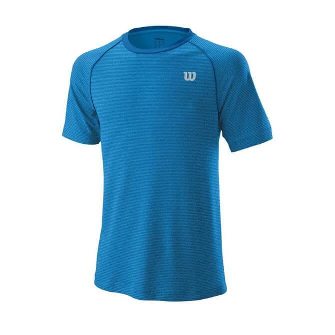 Wilson Men's Tennis Training Crew Top - Imperial Blue