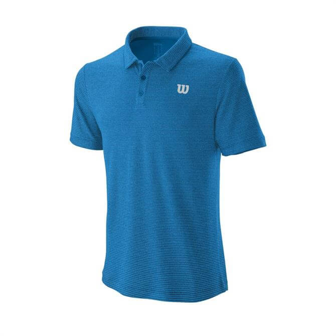 Wilson Men's Tennis Training Polo Top - Imperial Blue