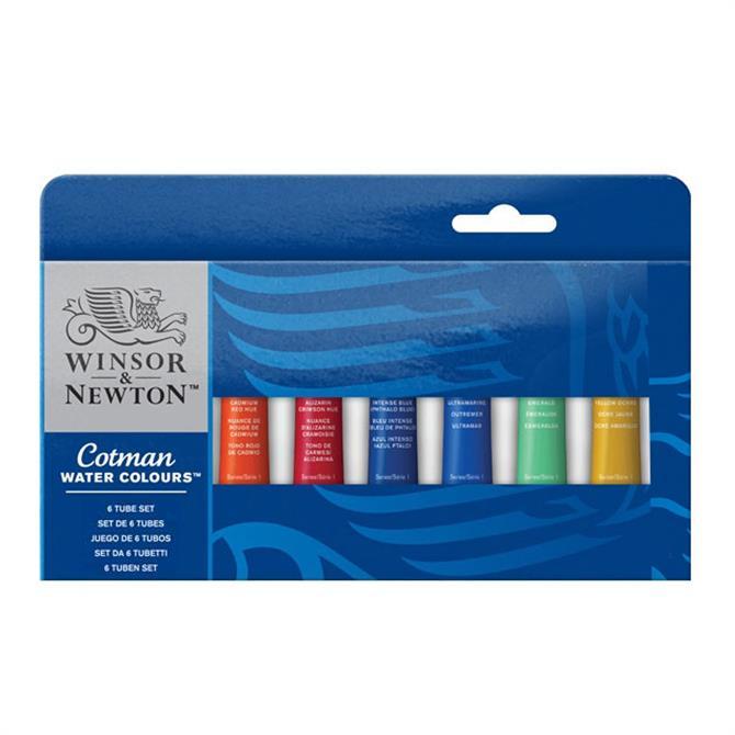Winsor and Newton Cotman 6 Tube Set