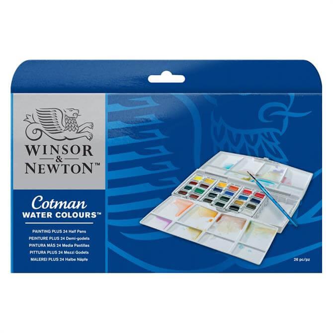 Winsor and Newton 24 Half Pan Painting Plus Set