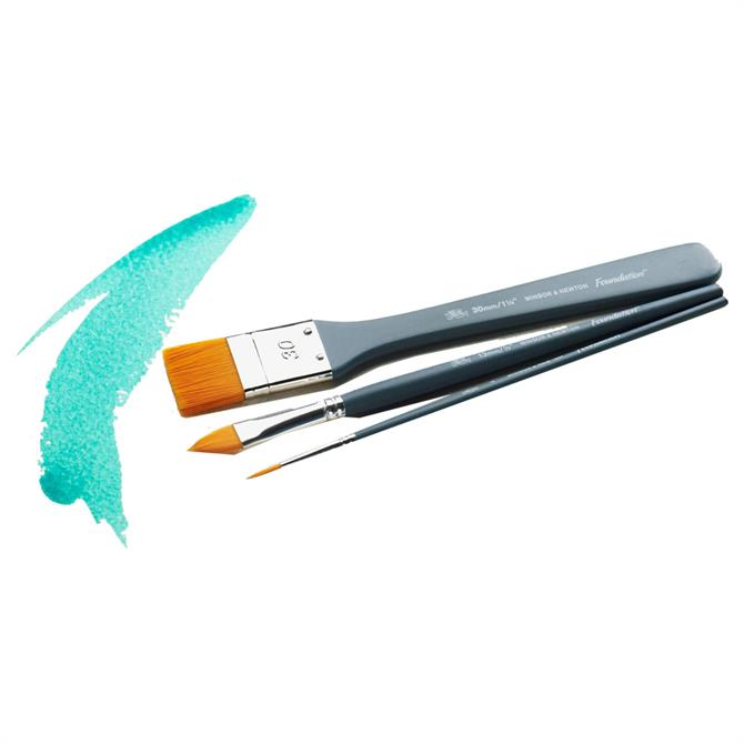 Winsor and Newton Foundation Water Colour Brush Set - 3 Piece