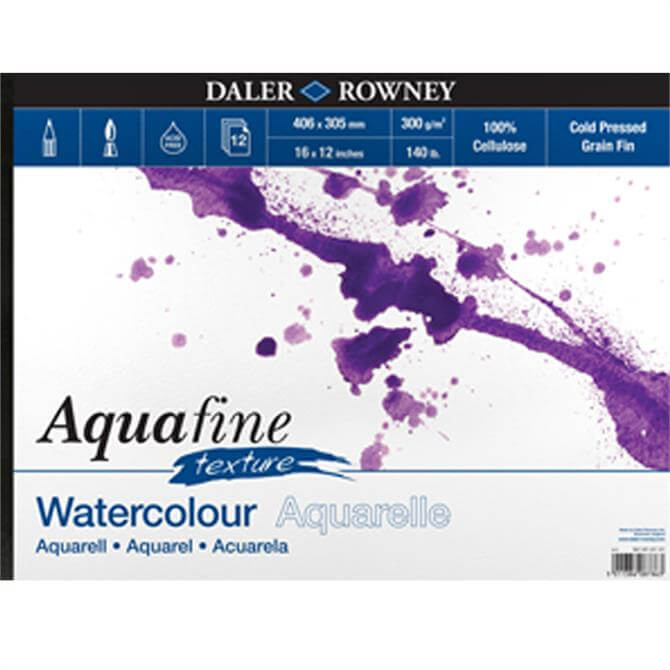 Daler Rowney Aquafine Watercolour Artboard Pad A4 10 Sheets