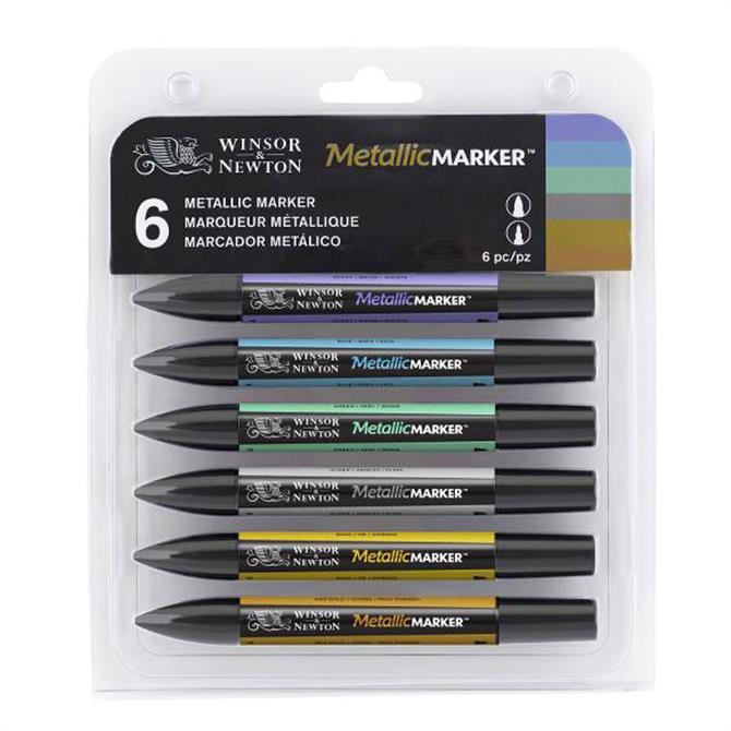 Winsor and Newton Metallic Marker Set
