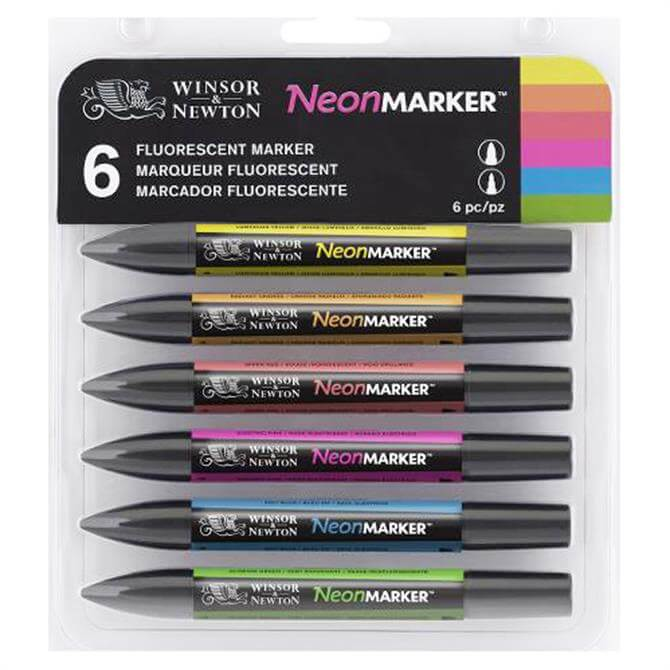 Winsor and Newton Neon Marker Set of 6