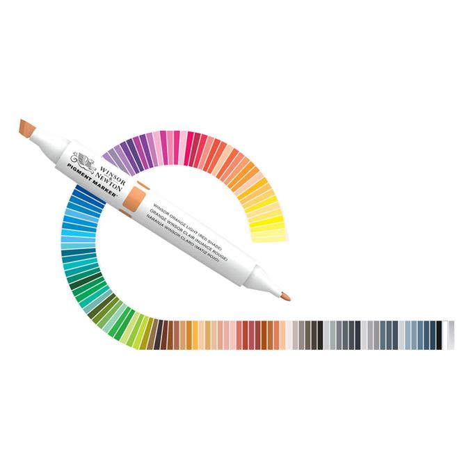 Winsor and Newton 6-Pack Pigment Marker Set