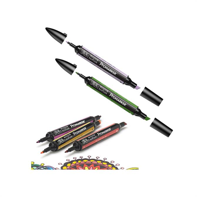 Winsor and Newton 6-Pack ProMarker Set