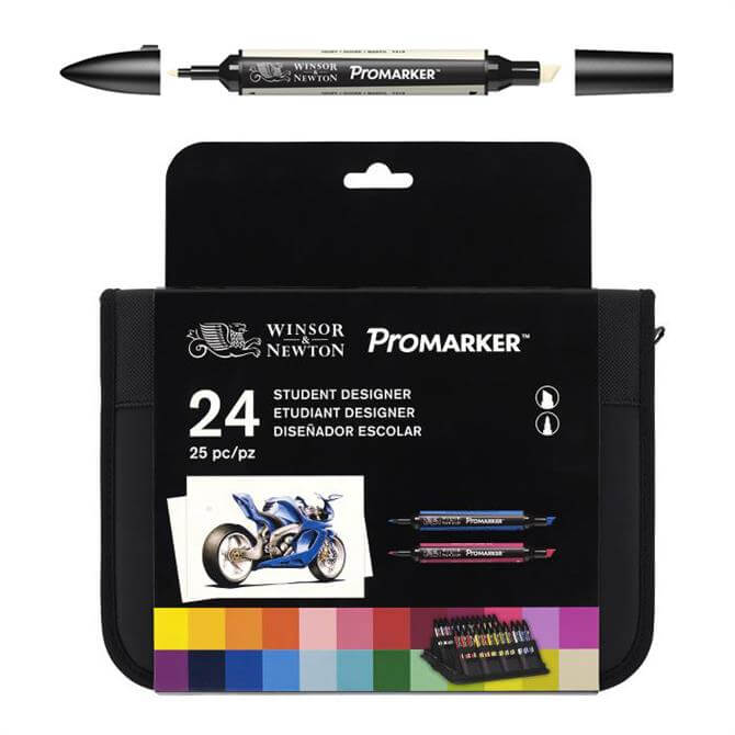 Winsor and Newton 24-Pack ProMarker Student Set