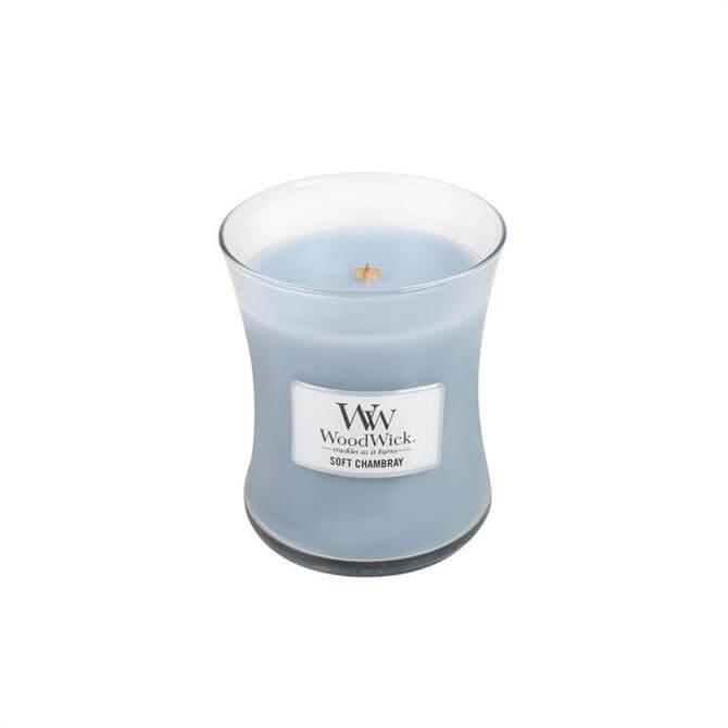 Woodwick Soft Chambray Medium Hourglass Candle